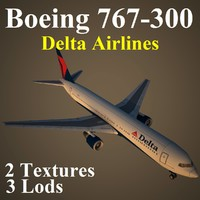 max boeing 767-300 delta airlines