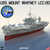 uss mount whitney lcc-20 3d model