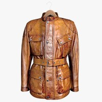 brown leather jacket 3d 3ds