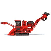3ds sugar cane harvester
