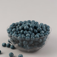 blueberry fruits 3d model