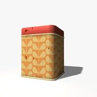 3d model rusty tin