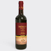 red wine bottle 3d max