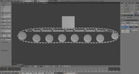 rigged tank track 3d model