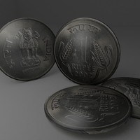 indian coin obj