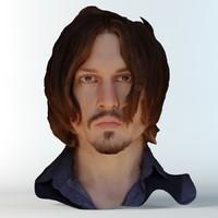 3d model famous head