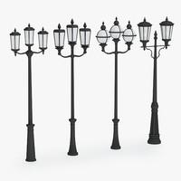 3d model of street lamp