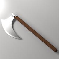 3dsmax sickle axe