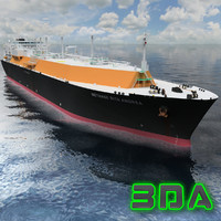 LNG tanker ship Gas logistic 137000cm