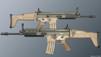 socom fn scar-l rifle 3d model