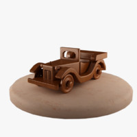 3d old car wood model