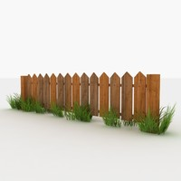 Fence - Wooden Low Poly