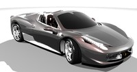 ferrari sports car 3d max