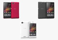 3d model sony xperia l colors
