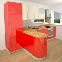 3ds max modern kitchen colors