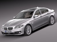 3d model 2014 sedan luxury