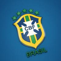 brazil soccer shield 3d obj