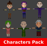 3ds max rpg characters pack