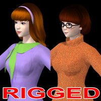 girl daphne blake velma 3d model