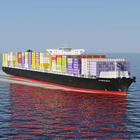 exedra container ship 3d max