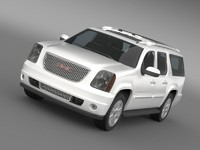 gmc denali xl 3d model
