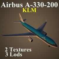 airbus klm 3d max