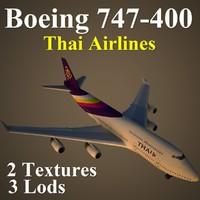 boeing 747-400 tha 3d max