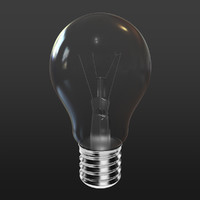 3d model lightbulb bulb