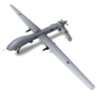 mq-1a predator ready games 3d model