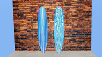 3ds longboard shark blue