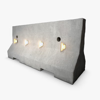 3d new jersey road barrier