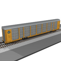 train car autorack 3d model