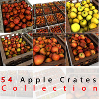 Apple Fruit Crates Cases Market Store Shop Convenience General Grocery Greengrocery Detail Prop Fair Plantation Jungle South Plant Garden Greenhouse Red Green Realistic Vray