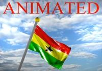 ghana flag 3d model
