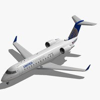 bombardier crj-200 united express 3d model