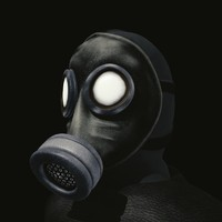 3d model of man gas mask