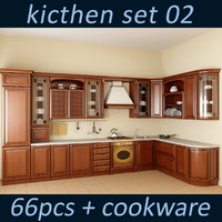 3d kitchen oven set