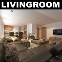 rug sofa realistic 3d model