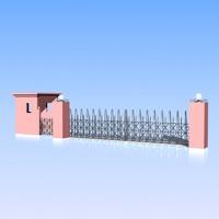 3d fence gate model