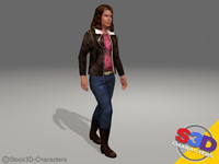 3d teenage monica model