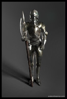 medieval knight armor obj