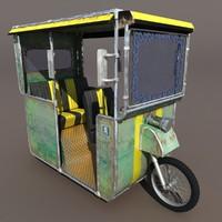 old rickshaw 3d model