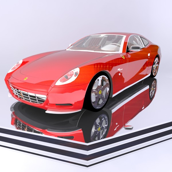 Ferrari Sports Car 612 Scaglietti 3d Model