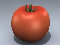 3d model red cherry tomato