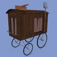 3d model of vendor cart