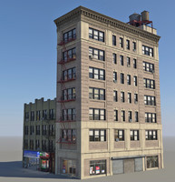 nyc buildings 3d fbx