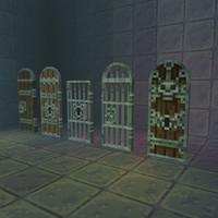 3d pixel door set