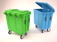 3ds max big litter bin