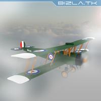 WW1 BiPlane Avro 504k