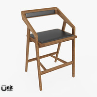 3d model katakana bar stool dare